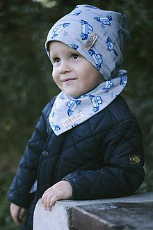 Detské čiapky - Obojstranná detská čiapka - Police - 7346135_