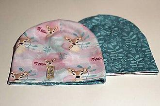 Detské čiapky - Obojstranná detská čiapka - lovely deers - 7350211_