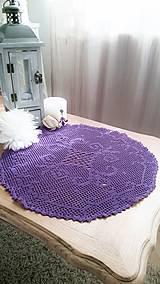 Úžitkový textil - Obrus z Fialkového údolia 1 - 7346484_