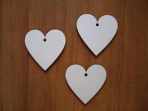 Materiál ručne robený - Drevené srdce 6x6 cm - 7349201_