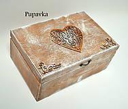 Krabičky - Drevená krabička - 7348820_