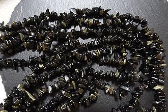 Minerály - Zlatý obsidián zlomky - 7350047_