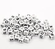 - Korálky písmenká kocky (balíček 500ks) - 7347392_