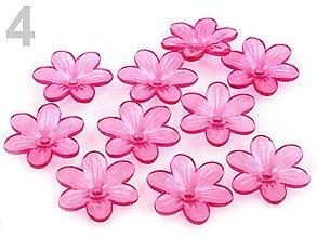 Korálky - Plastový zvonček kvet 12mm - 7347449_