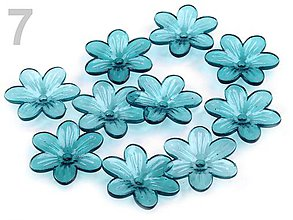 Korálky - Plastový zvonček kvet 12mm - 7347450_