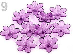 Korálky - Plastový zvonček kvet 12mm - 7347452_