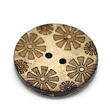 Galantéria - Kokosový gombík 28mm kvetinky - 7347779_