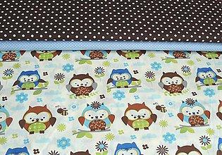 Textil - Látka sovičky - 7347565_