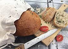 - Ľanové vrecúško na chlieb a domáce pečivo 40x30 - 7347079_