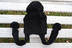 Detské čiapky - Čiapka čiernouška - 7353452_