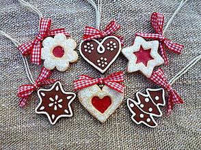 Dekorácie - Sada vianočných ozdôb - 6 ks - 7354798_