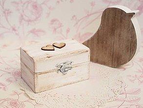 Prstene - Krabička so srdiečkami - 7352131_