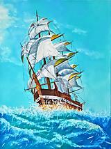 Obrazy - Plachetnica na mori - 7354259_