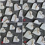 Darčeky pre svadobčanov - keramické srdiečko biele 5 cm - 7352087_
