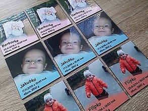 Magnetky - baby magnetka s fotografiou - 7355693_