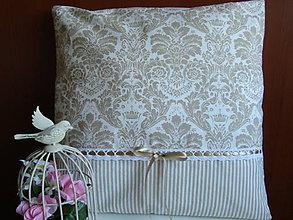 Úžitkový textil - Ozdobný vankúšik - 7355303_
