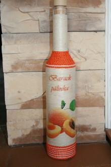 Nádoby - Fľaša marhuľovica - 7353888_