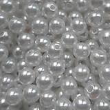 Korálky - GLANCE plast 6mm-50ks - 7353253_