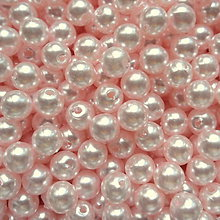 Korálky - GLANCE plast 6mm-50ks (ružová lastúrová) - 7353326_