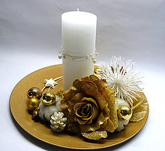 Svietidlá a sviečky - Zlatý - 7354298_