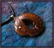 Náhrdelníky - 503. Drevený náhrdelník - ČEREŠNA - List stromu - 7350521_