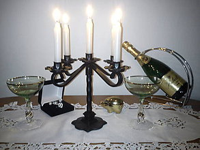 Svietidlá a sviečky - kovový svietnik - 7354607_