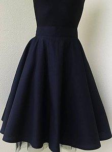 Sukne - Kolová sukně černá - 7354324_