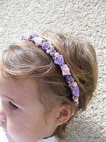 Ozdoby do vlasov - FOR YOU pink and lavender - čelenka - akcia - 7352375_