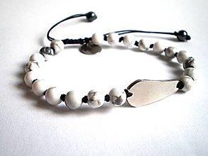 Šperky - Pánsky náramok BRYXI z magnezitu a ocele - 7354795_