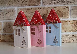 Dekorácie - Farebné domčeky pani zimy - 7354555_