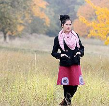 Sukne - V podzimním lese - vínová - 7350473_