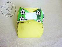 Detské doplnky - !Na patentky! Bude zo mňa futbalista - PUL Kapsová Plienočka (veľ. S-M-L) + vkladačka - 7355773_