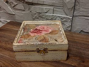 Krabičky - šperkovnička-ružová hortenzia - 7355331_