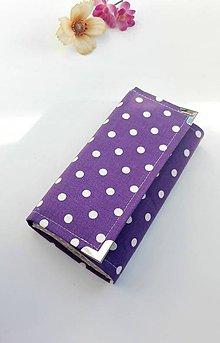 Peňaženky - Peňaženka- fialová bodka - 7358430_