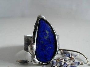Prstene - Dažďová kvapka- lapis lazuli, tiffany - 7358239_
