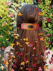 Ozdoby do vlasov - Sponka vo farbách jesene - 7360408_