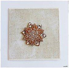 Papiernictvo - ❄Vianočná pohľadnica s medovníčkom❄ - 7356352_