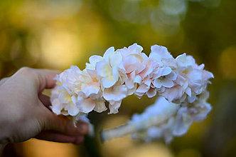 Ozdoby do vlasov - Korunka nežnosti... kvety hortenzie - 7358913_
