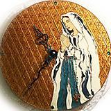 Obrazy - Ručne maľované hodiny - Panna Mária Lurdská - 7361497_
