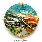 Hodiny - Ručne maľované hodiny