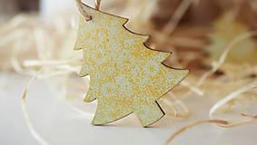 Dekorácie - Drevená ozdoba, vianočný stromček - 7359092_