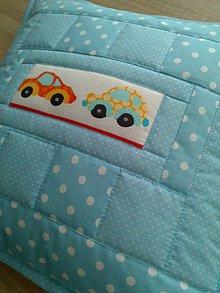Textil - Patchwork detský vankúšik* - 7361312_