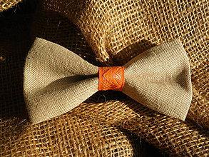 Doplnky - Oranžový motýlik cik-cak - 7360420_