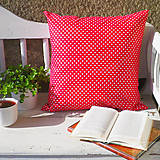 Úžitkový textil - bavlnený vankúš bodky/pásiky, 50 x 50 cm - 7359072_