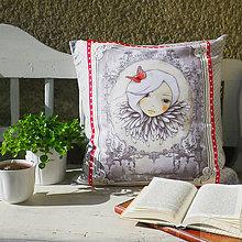 Úžitkový textil - bavlnená obliečka La Vie en Rose, 50 x 50 cm - 7359061_