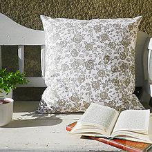 Úžitkový textil - kvetovaná bavlnená obliečka na vankúš 50 x 50 cm - 7359064_