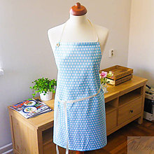 Iné oblečenie - univerzálna bavlnená zástera Lara, modré hviezdy - 7359291_