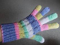 """Rukavice - Ručne pletené prstové rukavice """"Bea"""" - 7356040_"""