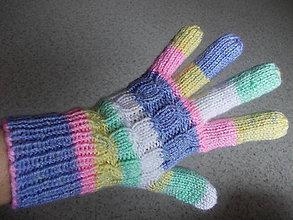 Rukavice - Ručne pletené prstové rukavice