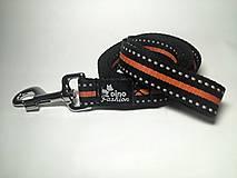 Pre zvieratká - Reflexné vodítko oranžové (šírka 2,5 cm) - 7361646_